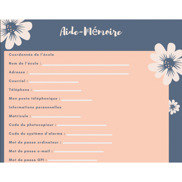Aide-mémoire numérique