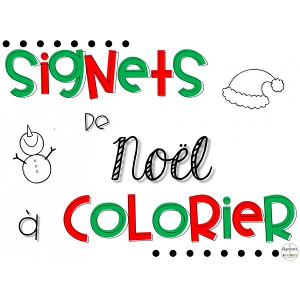 Signets à colorier de Noël
