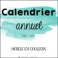 Calendrier 2018-2019 (couleurs)