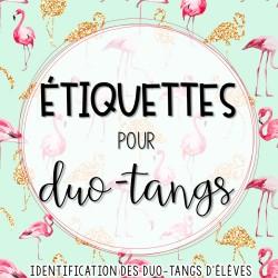 Étiquettes d'identification des duo-tangs (élèves)