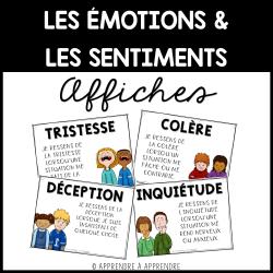 Émotions et sentiments - Affiches