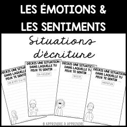 Émotions et sentiments - Situations d'écriture