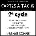 Cartes à tâche conjugaison - ENSEMBLE COMPLET