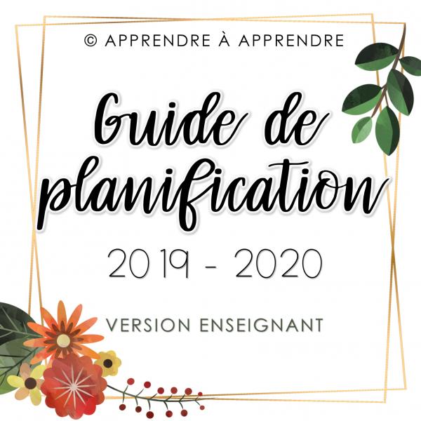 Guide de planification enseignant 2019-2020