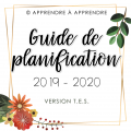 Guide de planification T.E.S. 2019-2020