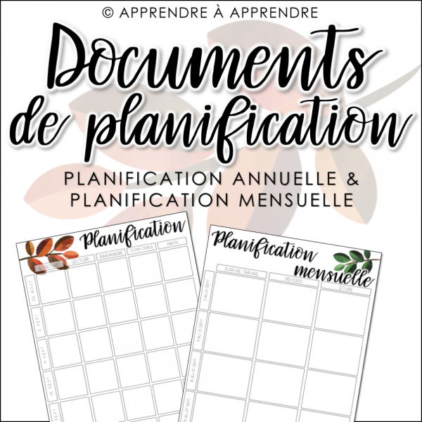 Planification annuelle et mensuelle 2019-2020