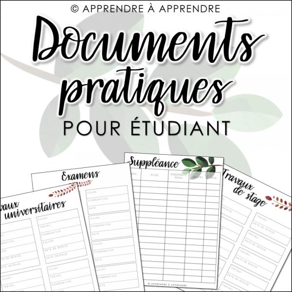 Documents pratiques étudiant 2019-2020