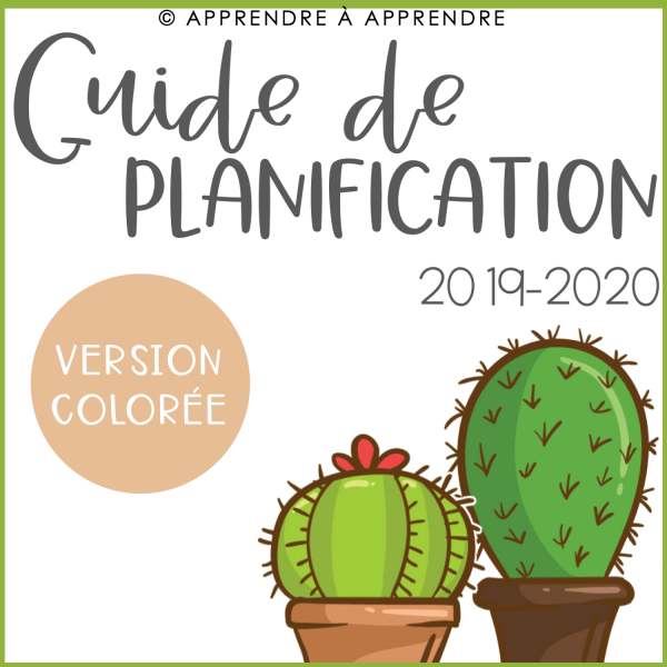 Guide de planification en couleurs 2019-2020