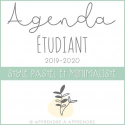 Agenda étudiant 2019-2020 (pastel et minimaliste)