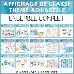 Affichage de classe ensemble complet - aquarelle