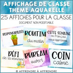 Affiches pour la classe - aquarelle