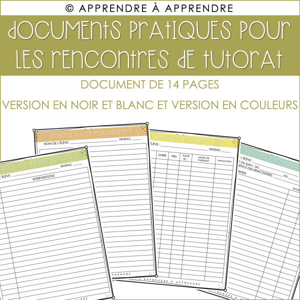 Documents pratiques - tutorat