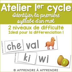Atelier - Identifier la première syllabe d'un mot