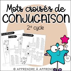 Mots croisés de conjugaison - 2e cycle