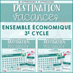 Destination vacances - Duo économique 3e cycle
