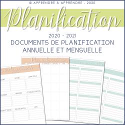 Planification annuelle / mensuelle - 2020-2021