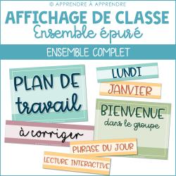 Affichage de classe ÉPURÉ - Ensemble complet
