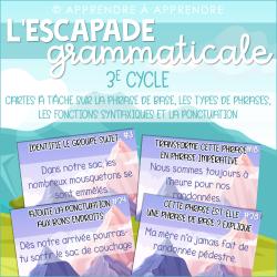 Escapade grammaticale - Cartes à tâche