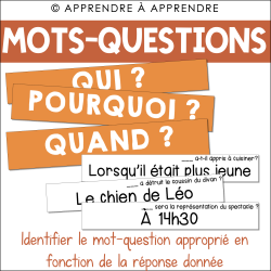 Identifier le bon mot-question