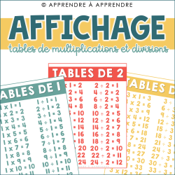 Affichage tables de multiplications et divisions