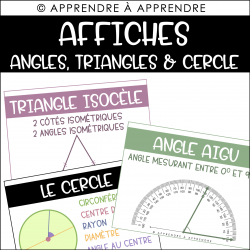 Affiches - Triangles, angles et cercle