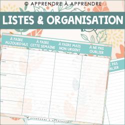 Listes & organisation