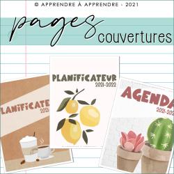 Pages couverture agenda/planificateur 2021-2022