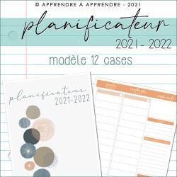 Planificateur enseignant 2021-2022 12 cases