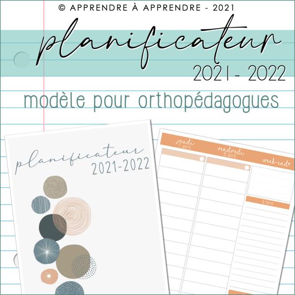 Planificateur orthopédagogue 2021-2022