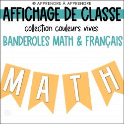 Affichage de classe - Banderoles
