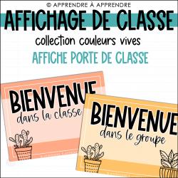 Affichage de classe - Affiches porte de classe