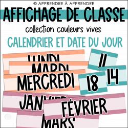 Affichage de classe - Calendrier et date