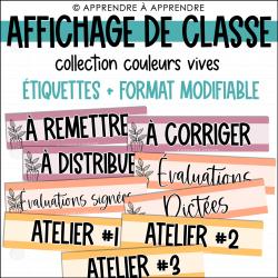 Affichage de classe - Étiquettes