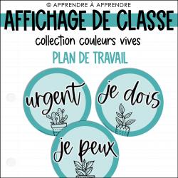 Affichage de classe - Plan de travail