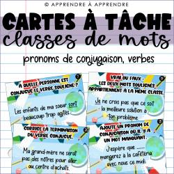 Cartes à tâche - pronoms de conjugaison, verbes