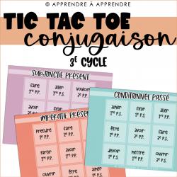 TIC TAC TOE Conjugaison 3e cycle