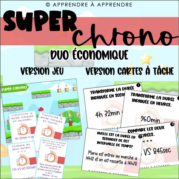 Super chrono - DUO ÉCONOMIQUE