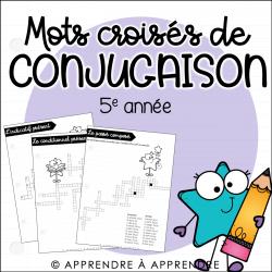 Mots croisés de conjugaison - 5e année