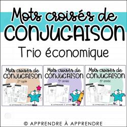 Mots croisés de conjugaison - TRIO ÉCONOMIQUE