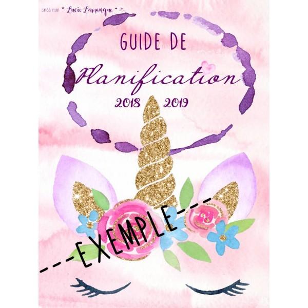 Guide de planification licorne 2018-2019