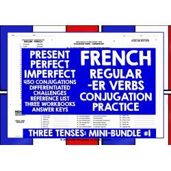 FRENCH -ER VERBS CONJUGATION MINI-BUNDLE #1