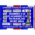 FRANÇAIS FRENCH NUMBERS 0-21 WORD WALL