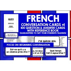 FRANÇAIS FRENCH SPEAKING CARDS #1
