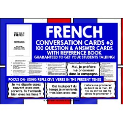 FRANÇAIS FRENCH SPEAKING CARDS #3