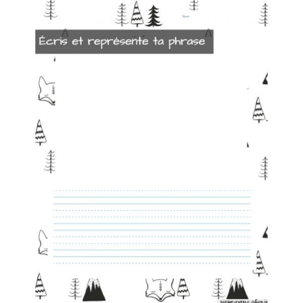 Écris et dessine ta phrase