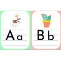 Alphabet lamas et cactus