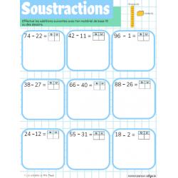 Additions et soustractions à 2 nombres
