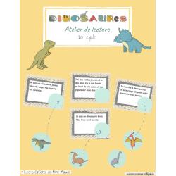 Atelier de lecture dinosaures- 1er cycle