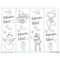 Signets des fêtes (Noël) à colorier