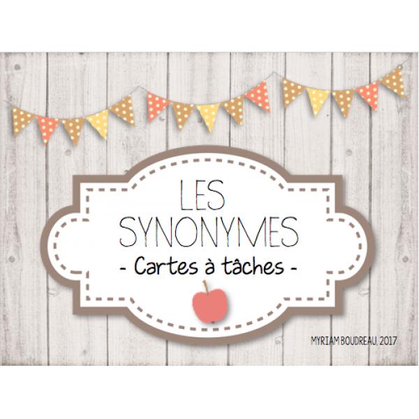 Cartes à tâches - Les synonymes